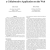 Optimistic Replication in Pharos, a Collaborative Application on the Web