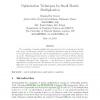 Optimization techniques for small matrix multiplication