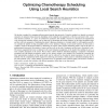 Optimizing Chemotherapy Scheduling Using Local Search Heuristics
