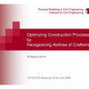 Optimizing Construction Processes by Reorganizing Abilities of Craftsmen