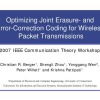 Optimizing Joint Erasure- and Error-Correction Coding for Wireless Packet Transmissions