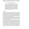 Optimizing Student Models for Causality
