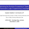 Optimizing the Runtime Processing of Types in Polymorphic Logic Programming Languages