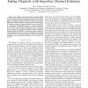 Optimum Detection of Binary Signals in Rayleigh Fading Channels with Imperfect Channel Estimates