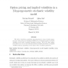 Option pricing and implied volatilities in a 2-hypergeometric stochastic volatility model