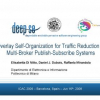 Overlay self-organization for traffic reduction in multi-broker publish-subscribe systems