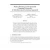 Packet Routing in Dynamically Changing Networks: A Reinforcement Learning Approach