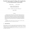Parallel constrained coding with application to two-dimensional constraints