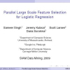 Parallel Large Scale Feature Selection for Logistic Regression.