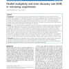 Parallel multiplicity and error discovery rate (EDR) in microarray experiments