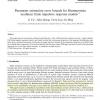 Parameter estimation error bounds for Hammerstein nonlinear finite impulsive response models