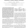Parameter-Free Determination of Distance Thresholds for Metric Distance Constraints
