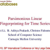 Parsimonious Linear Fingerprinting for Time Series