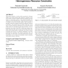 Partial task assignment of task graphs under heterogeneous resource constraints