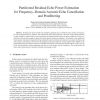 Partitioned residual echo power estimation for frequency-domain acoustic echo cancellation and postfiltering