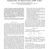 Partly Parallel Overlapped Sum-Product Decoder Architectures for Quasi-Cyclic LDPC Codes