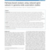 Pathway-based analysis using reduced gene subsets in genome-wide association studies
