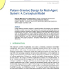 Pattern-Oriented Design for Multi-Agent System: A Conceptual Model