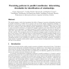 Perceiving patterns in parallel coordinates: determining thresholds for identification of relationships