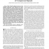 Perception-based partial encryption of compressed speech