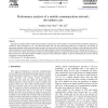 Performance analysis of a mobile communication network: the tandem case