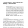 Performance Analysis of Adaptive Admission Control Algorithms for Bandwidth Brokers
