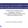 Performance and Scalability of the NAS Parallel Benchmarks in Java