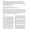 Performance measurement and analysis of large-scale parallel applications on leadership computing systems