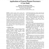Performance of Sequence Alignment Bioinformatics Applications on General Purpose Processors: A Case Study
