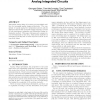 Performance space modeling for hierarchical synthesis of analog integrated circuits