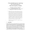Person Identification by Analyzing Door Accelerations in Time and Frequency Domain