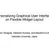 Personalizing graphical user interfaces on flexible widget layout