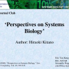 Perspectives on Systems Biology