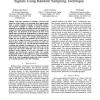 Phase measurement and adjustment of digital signals using random sampling technique