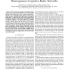 Phase Transition Diagram for Underlay Heterogeneous Cognitive Radio Networks