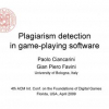 Plagiarism detection in game-playing software