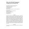 Policy-based hybrid management architecture for IP-based VPN