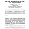 Policy-enabled mechanisms for feature interactions: reality, expectations, challenges