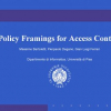 Policy framings for access control