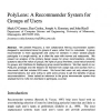 PolyLens: A recommender system for groups of user