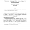 Polynomial-time algorithms for coding across multiple unicasts