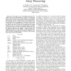 Positioning in Wireless Sensor Networks Using Array Processing