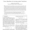 Power Algorithms for Inverting Laplace Transforms
