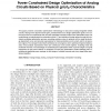 Power constrained design optimization of analog circuits based on physical gm/ID characteristics