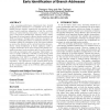 Power efficient branch prediction through early identification of branch addresses