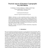 Practical Aspects of Quantum Cryptographic Key Distribution