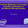 Practical methods in coverage-oriented verification of the merom microprocessor