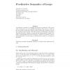 Predicative semantics of loops
