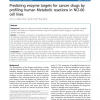 Predicting enzyme targets for cancer drugs by profiling human Metabolic reactions in NCI-60 cell lines