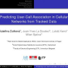Predicting User-Cell Association in Cellular Networks from Tracked Data